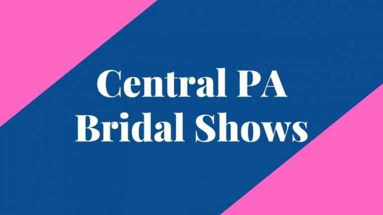 banner that says central pa bridal shows