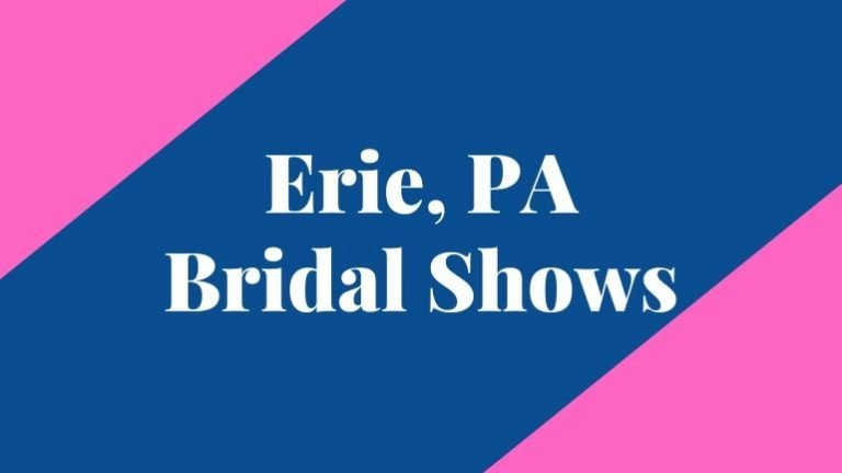 banner that says erie bridal shows
