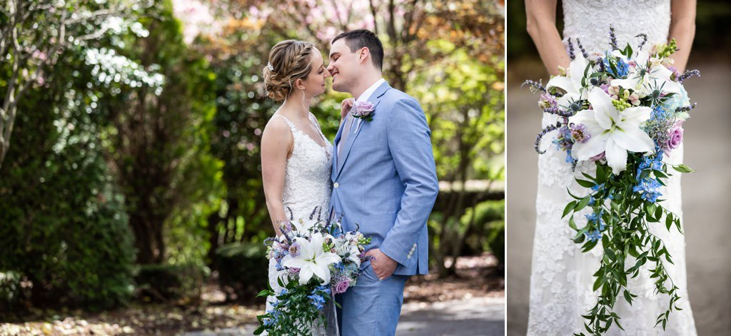 Linwood estate wedding and a bridal bouquet