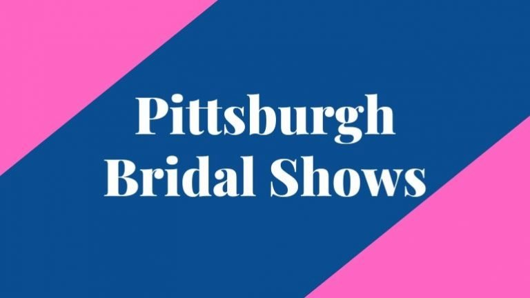 banner that says pittsburgh bridal shows