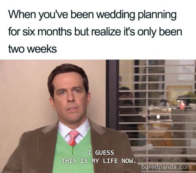 funny wedding planning meme