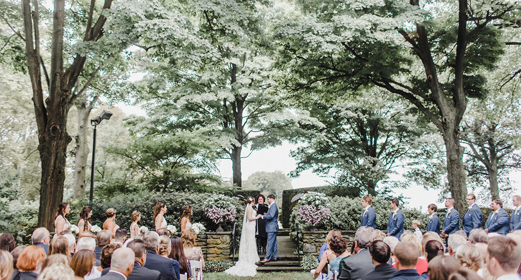 A wedding ceremony at Drumore Estate - wedding venues in lancaster pa