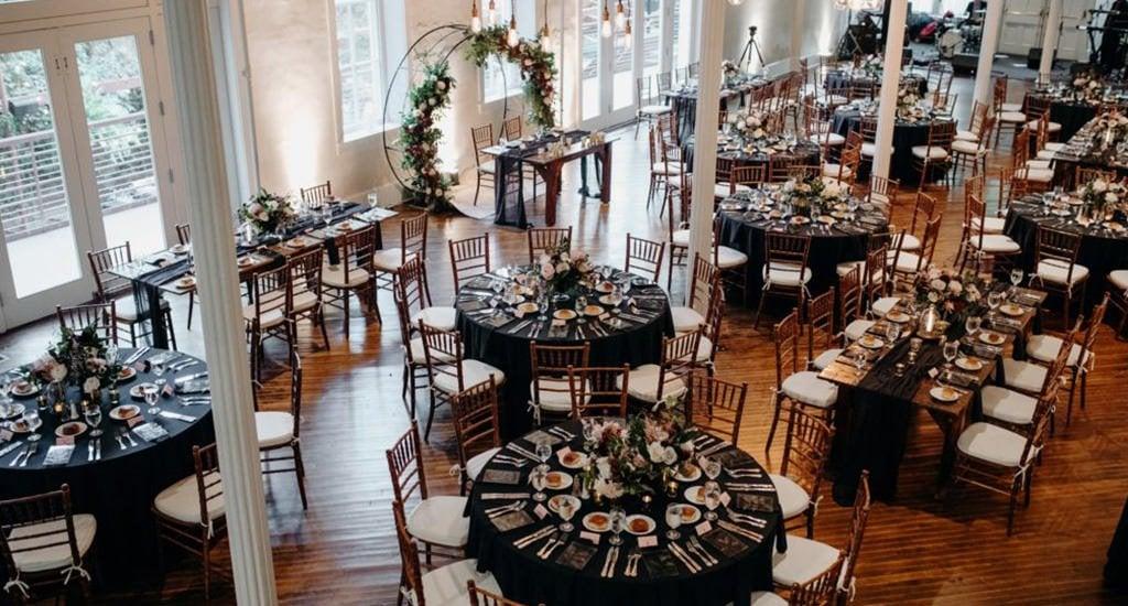 a wedding reception set up at Excelsior Lancaster