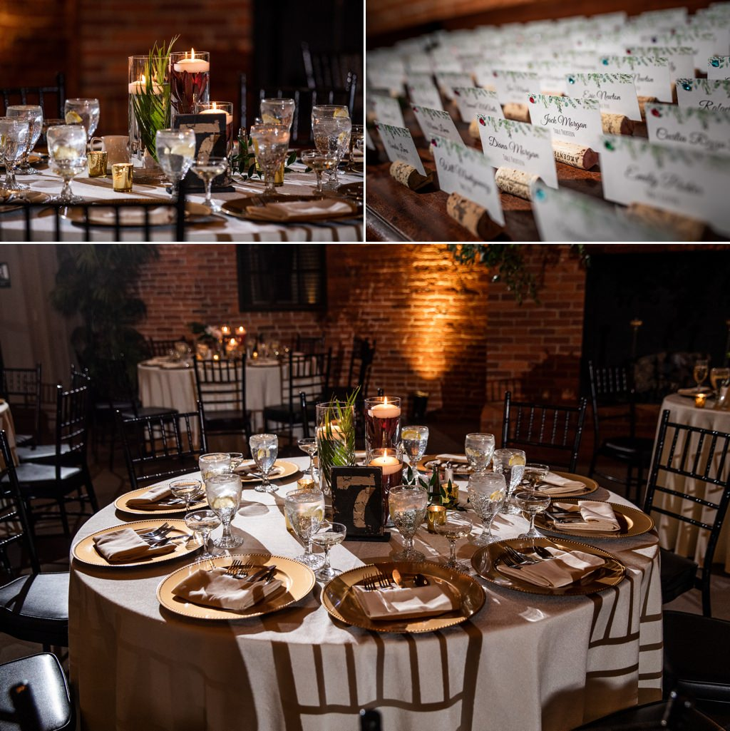 wedding reception details at the cork factory hotel