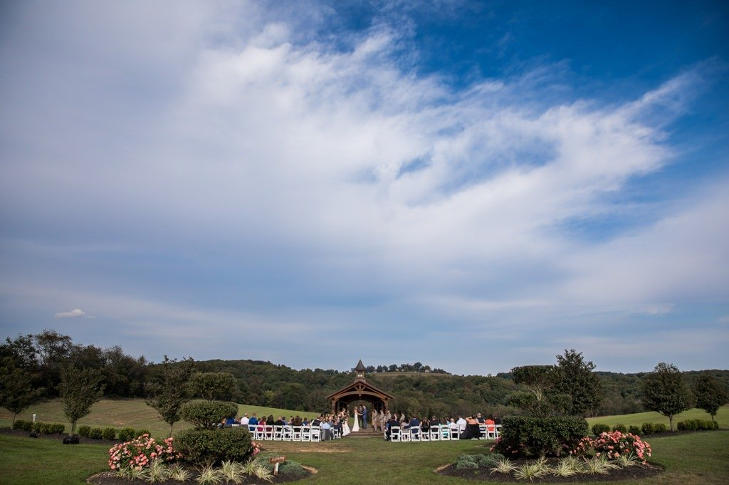 The Wyndridge Farm wedding ceremony site