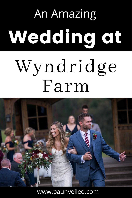 An amazing wedding at Wyndridge Farm near York, PA