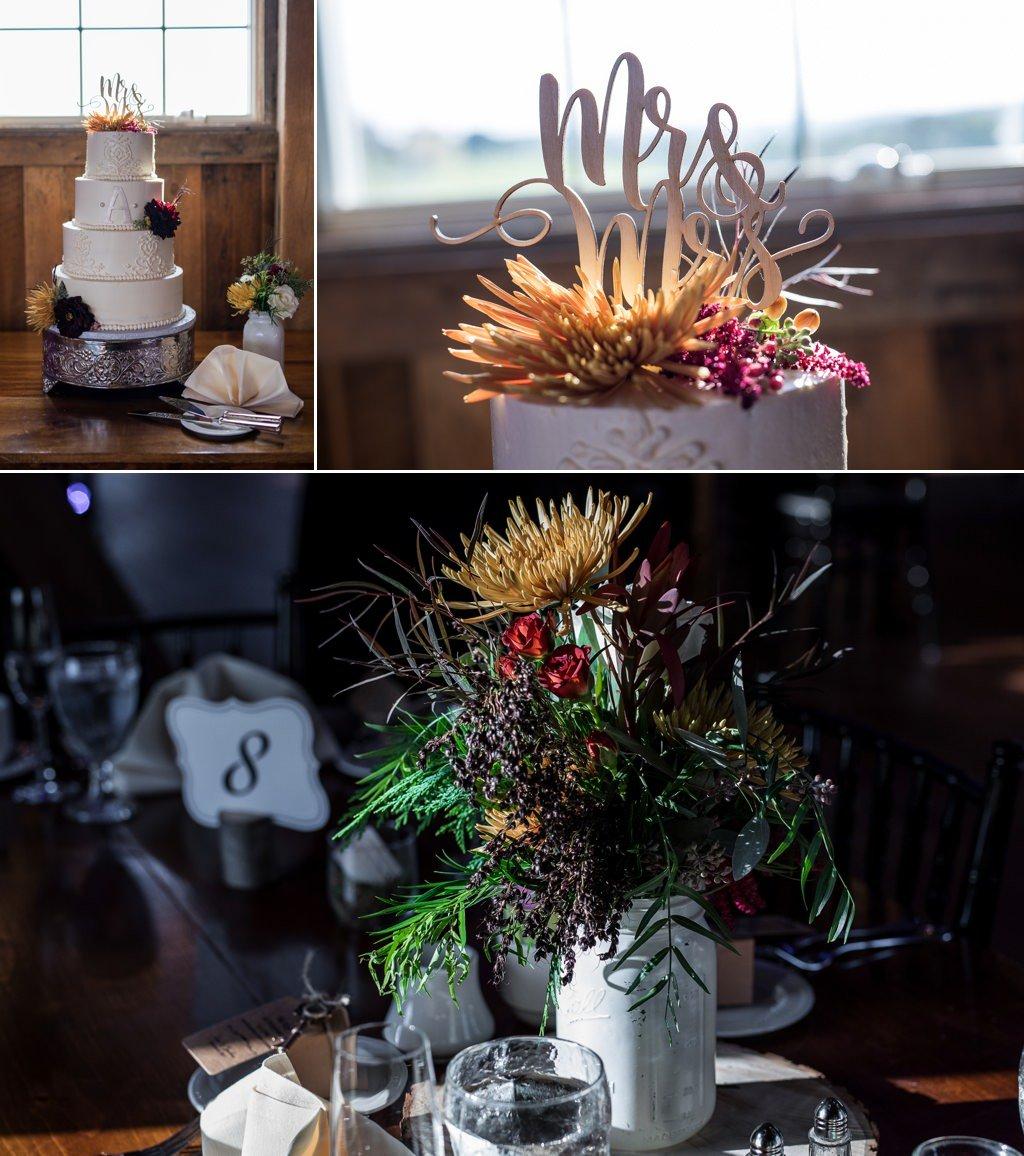 Wedding reception decor at Wyndridge Farm