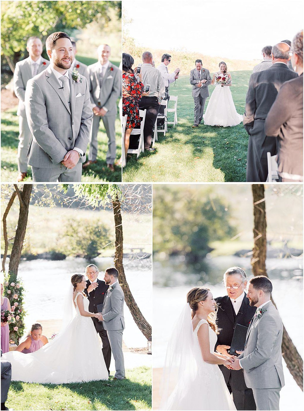 wedding ceremony at the farm at eagles ridge