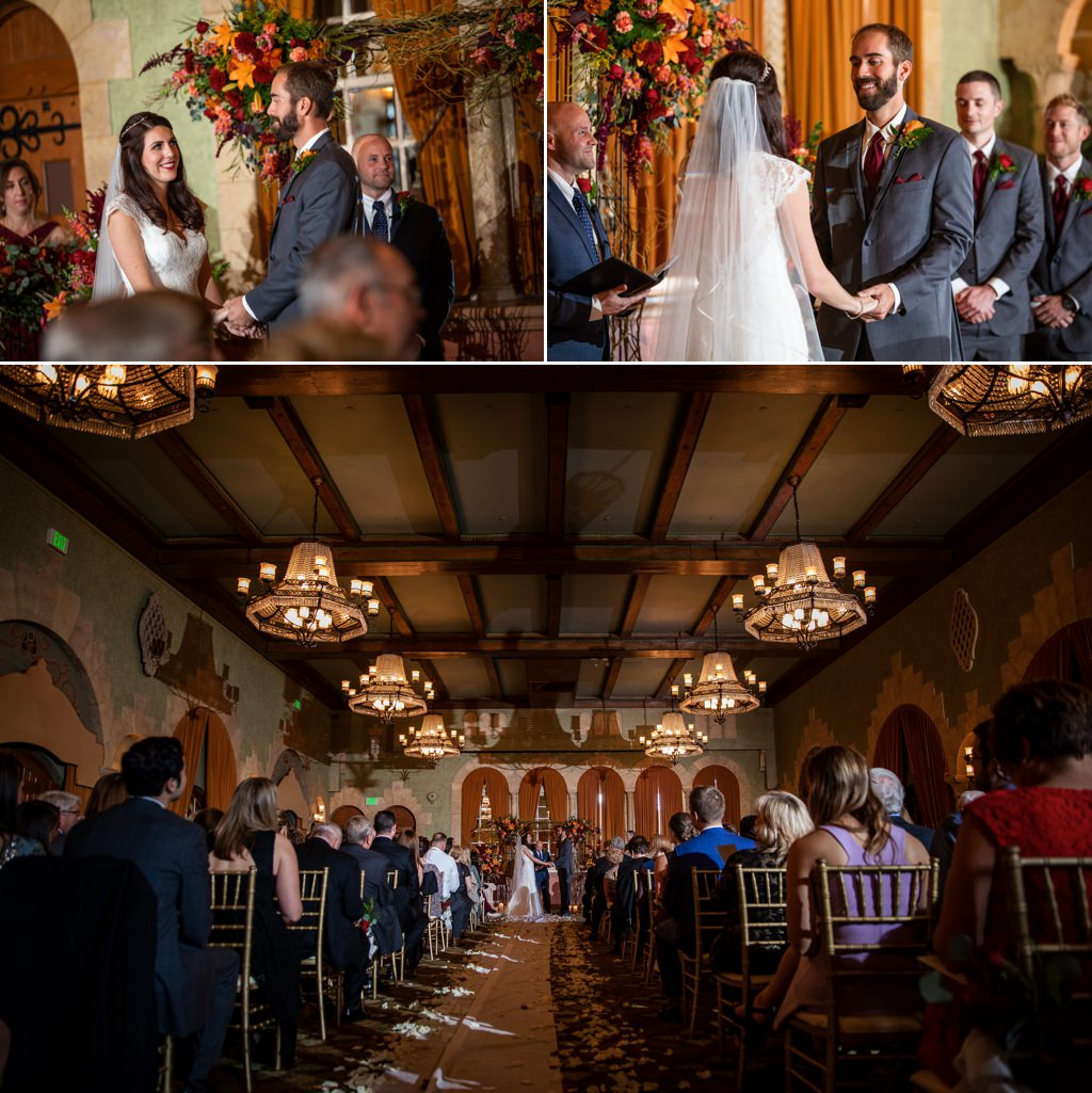 A wedding ceremony in The Castilian Room at The Hotel Hershey