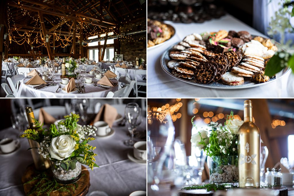 DIY wedding reception decorations at Wind in the Willows