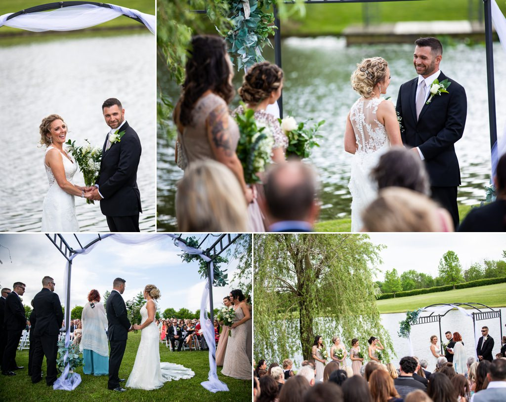 A wedding ceremony at Wind in the Willows
