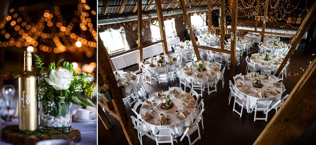Wedding reception decor at Wind in the Willows
