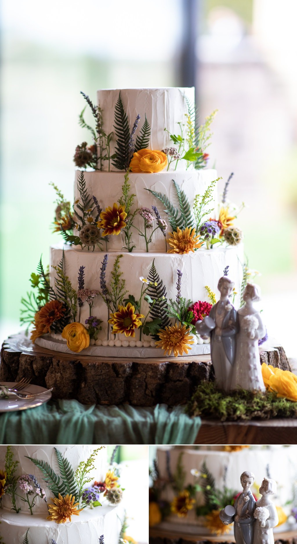 A beautiful wedding cake by rosie's creative cakes in pa