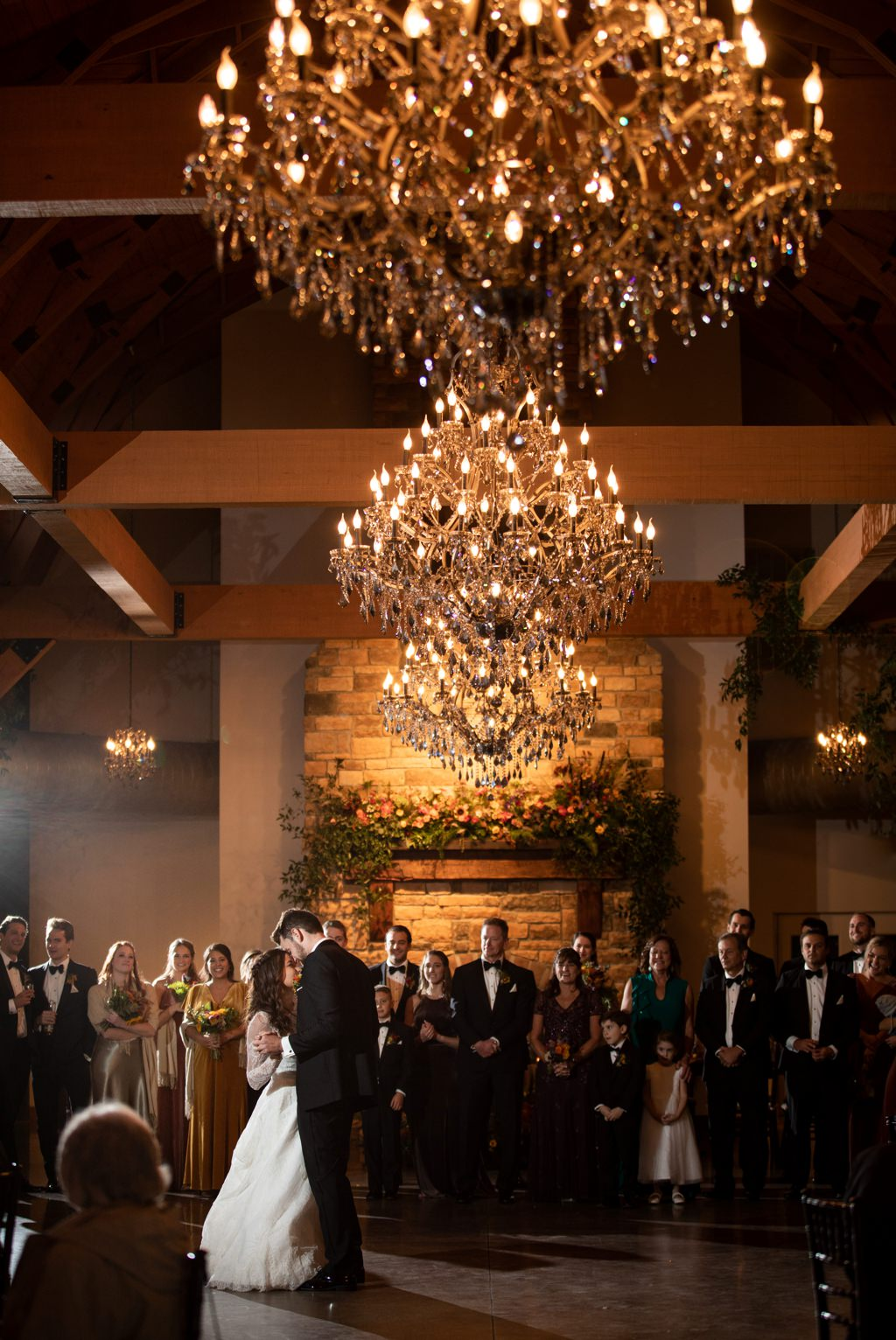 a bride and groom first dance at this wedding at historic acres of hershey pa