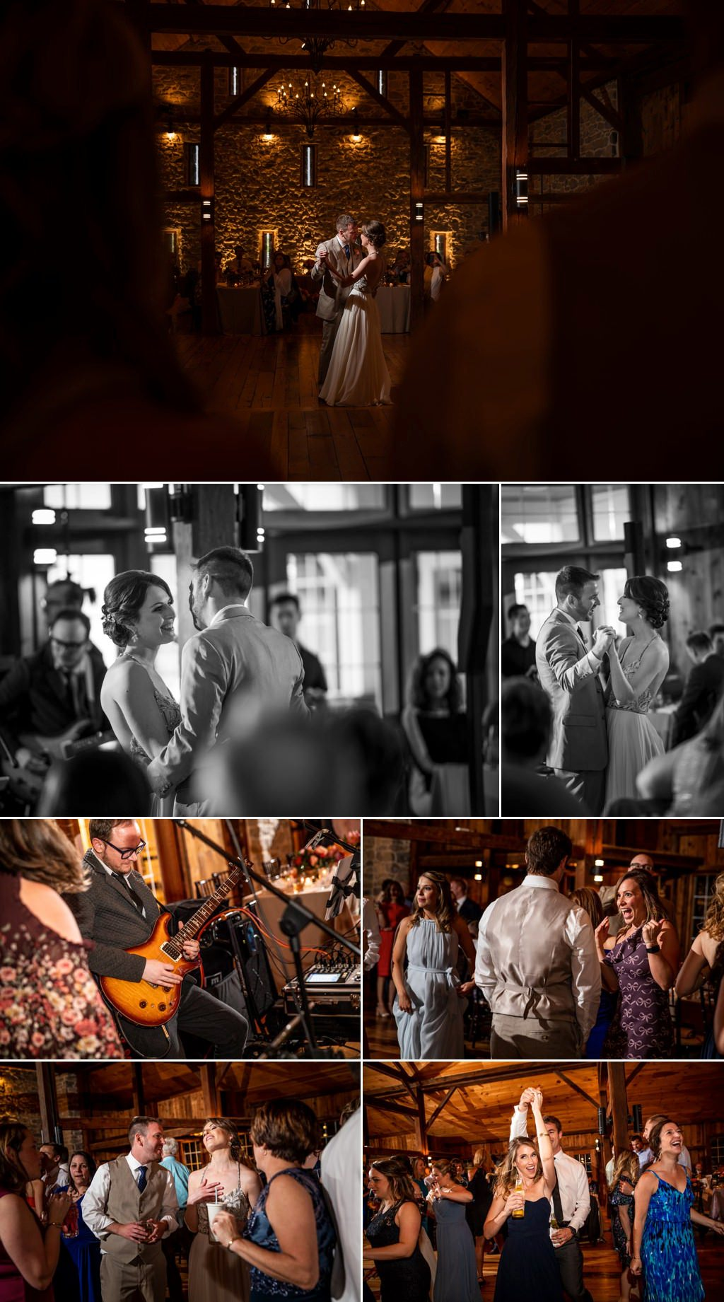 Dancing photos from a wedding reception at The Barn at Silverstone