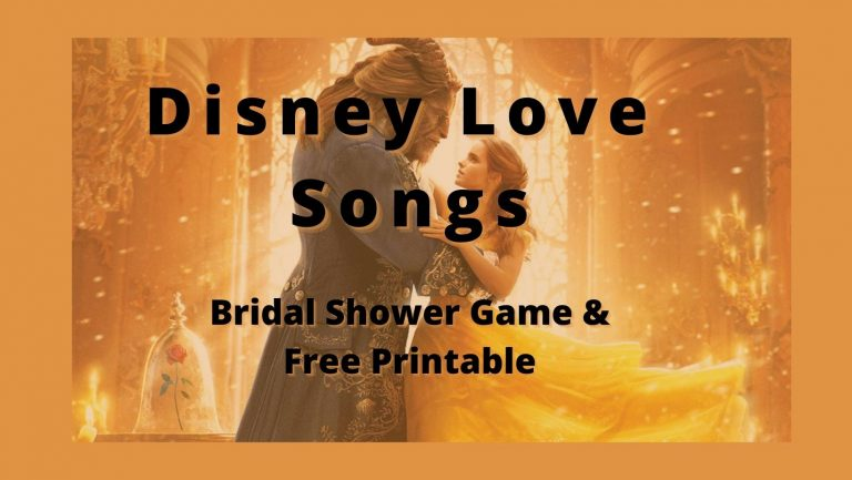 Disney Love Songs Bridal Shower Game (Free Printable)