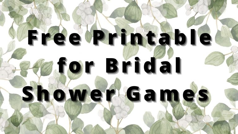 21 Free Downloadable Bridal Shower Games (Printable)
