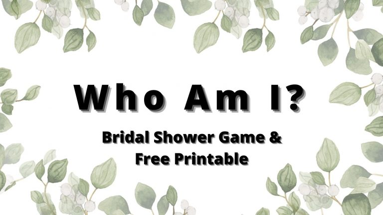 Who Am I (Memory Lane) Bridal Shower Game – Free Printable