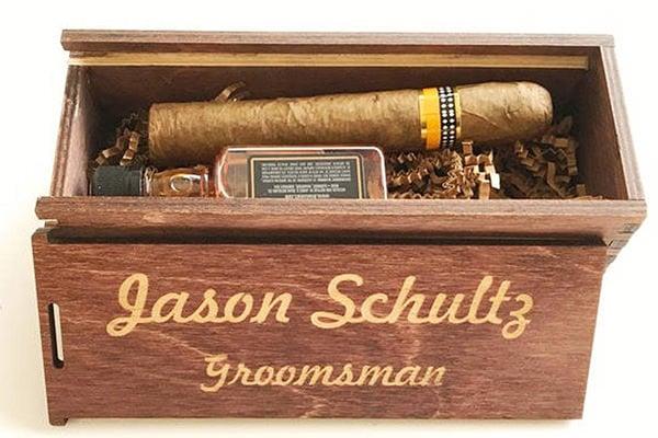 a cigar box on a table