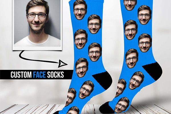 socks with a face on them