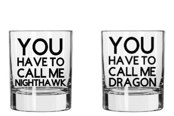 2 whiskey glasses