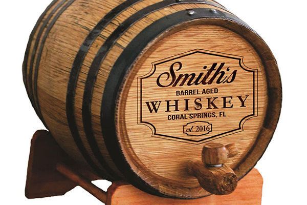 a personalized whiskey barrel product photo