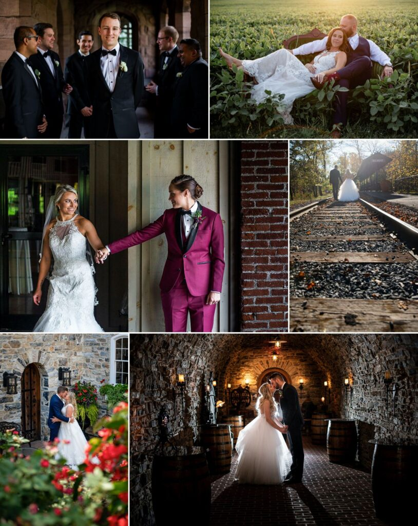 A variety of Pennsylvania wedding photos from MG Photography
