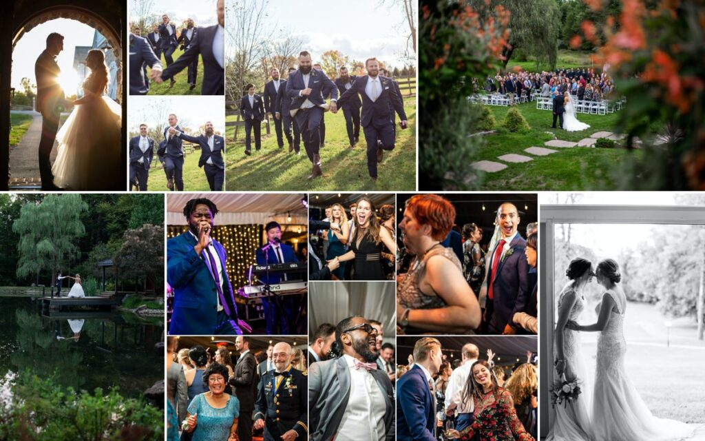 Amazing wedding photos including a bride walking down the aisle with her dad. All photos by MG Photography
